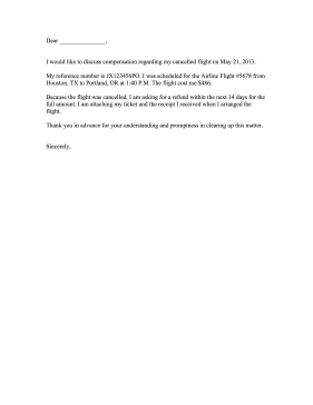 sample complaint letters to airlines