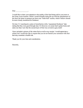 Food Poisoning Complaint Letter Sample Titan Northeastfitness Co