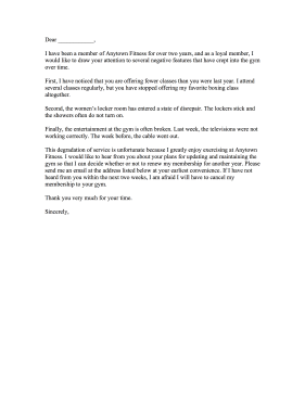 Sample Doctor Letter To Cancel Gym Membership. Gym Cancellation ...