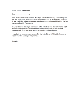 How To Write Complaint Letter To Neighbours